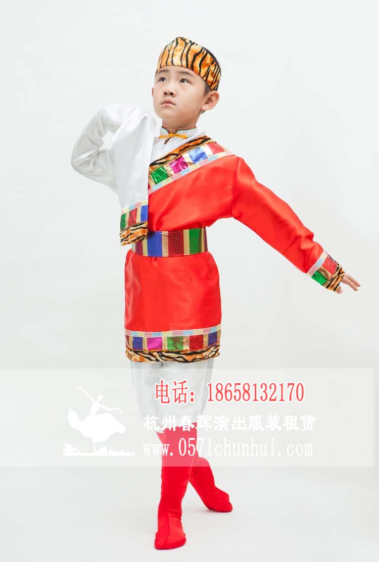 儿童藏族民族服装 男装
