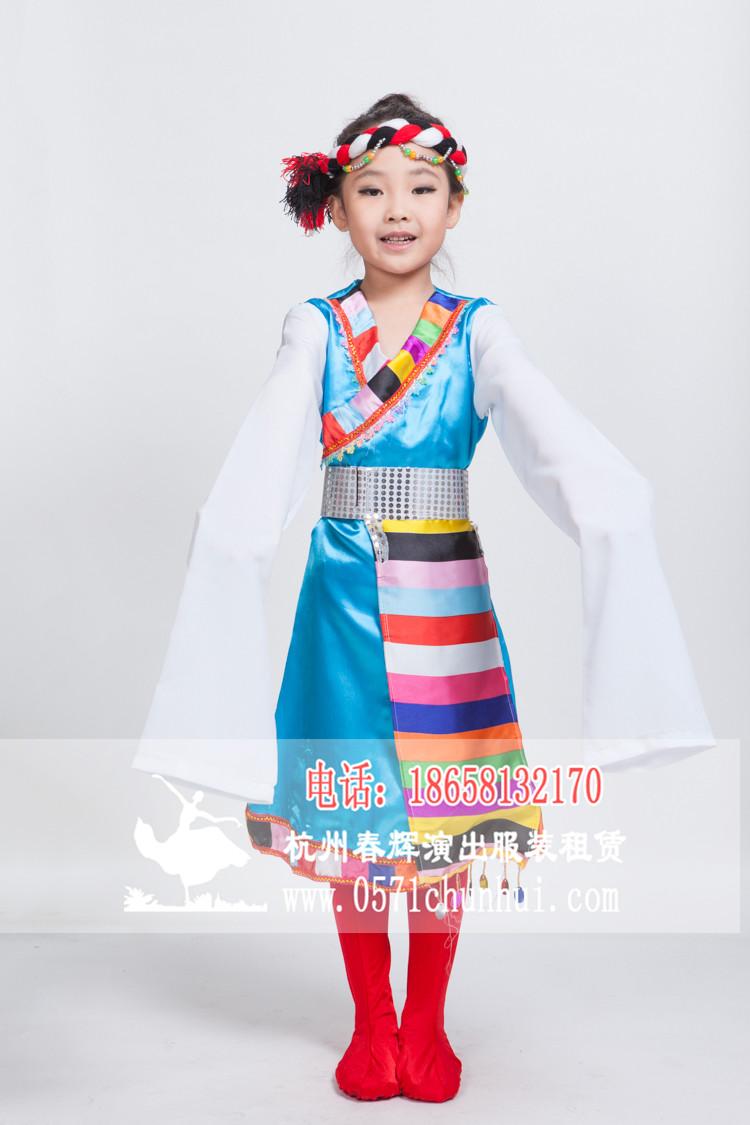 儿童藏族民族服装 女生