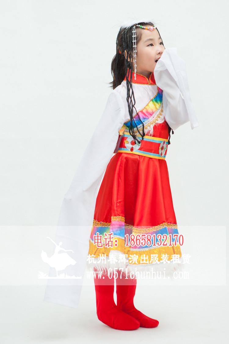 儿童藏族舞蹈服装 女生