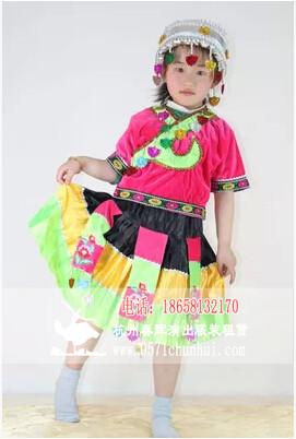 儿童苗族 彝族 壮族服装
