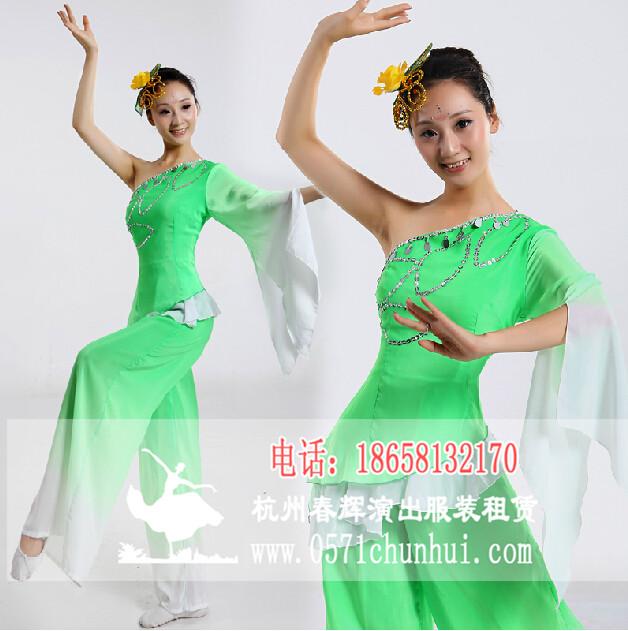 采茶舞蹈服装 民族舞 古典舞 秧歌服装