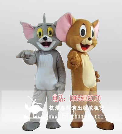 卡通人偶服装 猫和老鼠卡通人偶服装 汤姆猫 杰瑞鼠