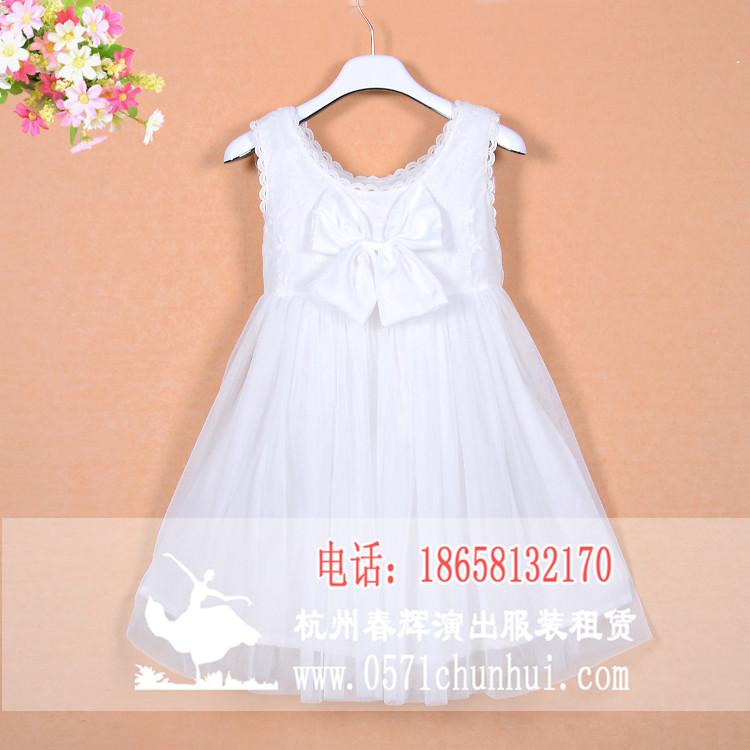 儿童白色纱裙 公主裙